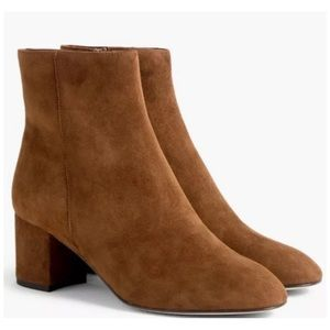J Crew Hadley Suede Boots In Pony Brown